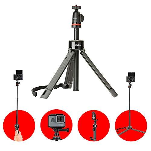JOBY JB01548-BWW Telepod Pro Kit Ausziehbares Einbeinstativ Selfie Stick (mit Kugelkopf, für Spiegellose, Kompakt-Kameras, 360°, Action Kameras, Vlogging)