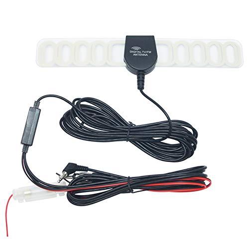 FEELDO Antenne radio 2 en 1 pour voiture TV/FM avec amplificateur