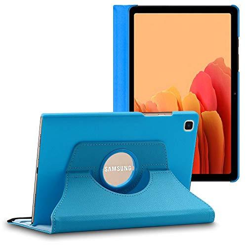 ebestStar - Coque Compatible avec Samsung Galaxy Tab A7 10.4 T505 (2020) Housse Protection Etui PU Cuir Support Rotatif 360, Bleu [Tab S7: 247.6 x 157.4 x 7 mm, 10.4'']