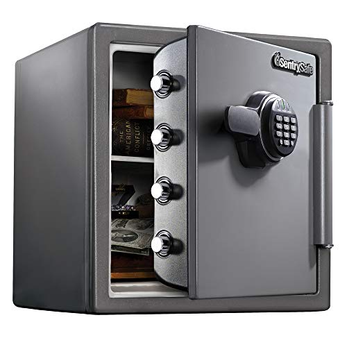 SentrySafe SF123ES Fireproof Safe with Digital Keypad 1.23 Cubic Feet,Black