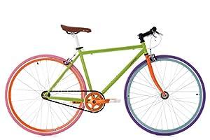 "KS Cycling Fixie Fitnessbike 28"" Essence grün RH 47 cm Fahrrad,"