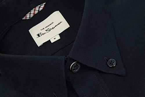 Ben Sherman Mens Oxford Shirt Long Sleeved (Embroidered Logo) (Dark Navy (Embroidered Pocket Logo)) L