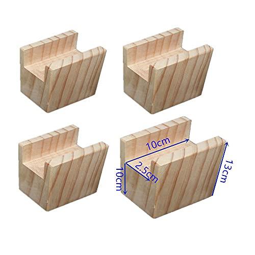 Rassembleurs de lit en bois Duty Elephant Feet Mises en hauteur pour meubles Mobilier de table élévatrices pour canapé-lit Chaises pour jambes, Lot de 4