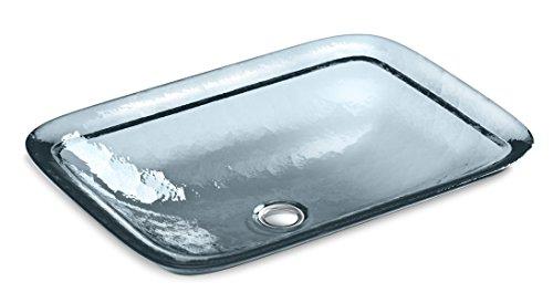 KOHLER 2773-TG1 Translucent Dusk Inia Wading Pool Glass Drop-in Rectangular Bathroom Sink