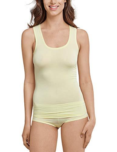 Schiesser Damen Personal Fit Tank Top Unterhemd, Gelb (gelb 600), L