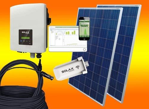 bau-tech Solarenergie 2000Watt Solaranlage Photovoltaikanlage Eigenverbrauch Plug & Play mit Montagematerial für Flachdach