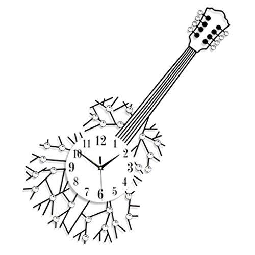ZHAS intérieur, créatif, décoratif, horloge murale, Guitare, horloge murale, Quartz, muet, horloge...