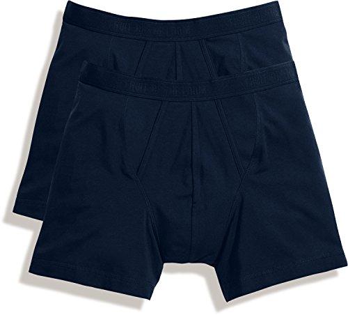 Fruit of the Loom - Calzoncillos tipo bóxer para hombre - Underwear Navy M