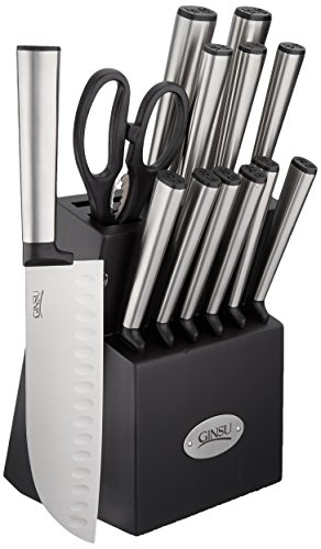 Ginsu Koden 14 Piece Cutlery Set with Bonus Santoku and Shears, Stainless Steel