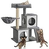 Yaheetech Árbol de Gatos Rascador Madera 59 x 56,5 x 88 cm Torre Gatos Casa