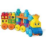 Mega Bloks il Treno dell' Alfabeto Blocchi da Costruzione, Giocattolo per Bambini 1+ Anni, Multicolore, FWK22