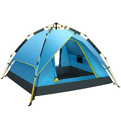 Portable Tent Beach, 4 Person Tent Pop up, Family Dome Waterproof Sun Shelters Backpacking Tents Lightweight UV Protection Quick Set up for Camping Hiking Outdoor Activities