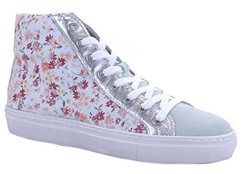 Binks Damenschuh Damen-Sneaker weiß beblümt Blümchenmuster NEU Gr. (39)