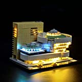 Morton3654Mam Juego de luces LED para arquitectura Lego Solomon R. Guggenheim Museum 21035, juego de iluminación compatible con bloques de construcción Lego 21035, sin set Lego