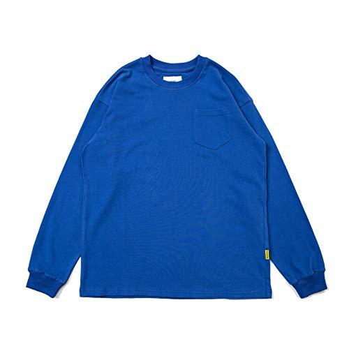 Camiseta de Manga Larga Camiseta de Fondo Casual Camiseta de Cuello Redondo Multicolor Suelta Hombres
