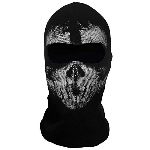 LACKINGONE Call of Duty 10 COD Ghost Hoods Skull Skeleton Head Mask Hood Biker para Halloween Navidad Regalos de Pascua (#4)