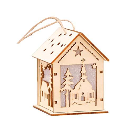 Kerstdecoratie, ramen, verlichte cabine met LED-verlichting, raamdecoratie met kerstboomhanger, voor kerstramen, kantoordecoratie: verschillende en middelgrote modellen, groot
