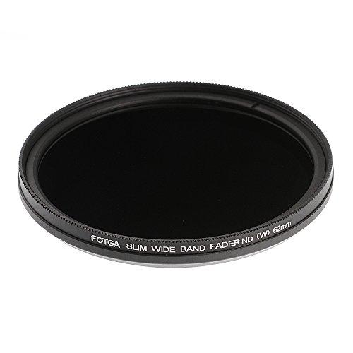 Ruili Schlank Fader Variable ND Filter einstellbar Neutrale Dichte 62mm, ND2 to ND400,62mm Kamera Filter