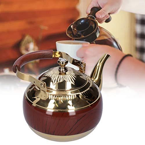 Surebuy Herd-Teekanne, bogenförmiger Edelstahl Herd-Teekanne für die Küche für unterhaltsame Gäste