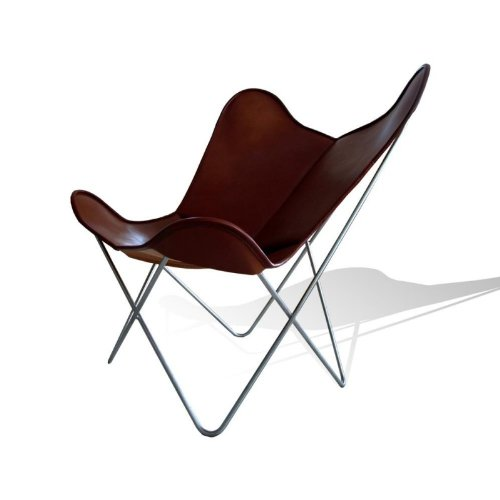 Vino baums hardoy Butterfly Chair Original piel color marrón