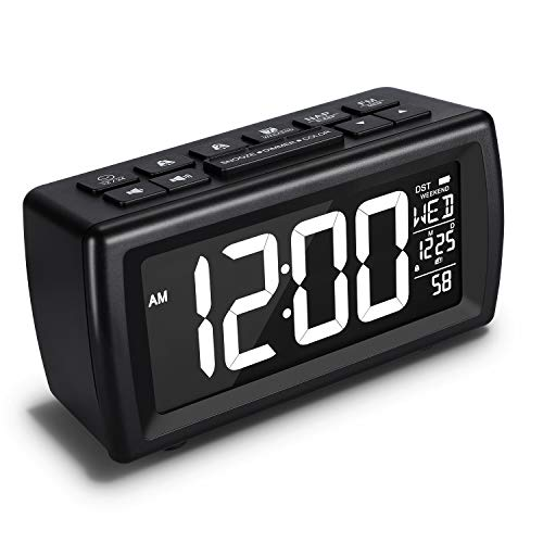AZUTTA Digital Alarm Clock Radio- 7 Display Colors Adjustable, 5 Brightness Dimmer, FM Radio Sleep Timer, Dual Alarm with Snooze and Weekend Mode, 12/24H, USB Charging Port for Home Bedside Bedroom