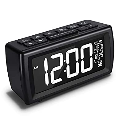 AZUTTA Digital Alarm Clock Radio with 7-Color Digit Display