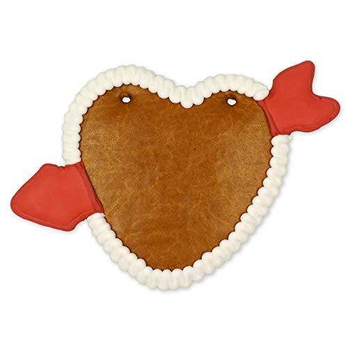 Lebkuchenherz mit Pfeil und Rand 22cm selbst gestalten (essbar) | Valentinstag Geschenke selber machen | Valentinsgeschenk basteln | Persönliches Geschenk für Partner von LEBKUCHEN WELT