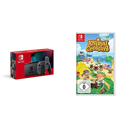 Nintendo Switch Konsole - Grau (2019 Edition) + Animal Crossing: New Horizons [Nintendo Switch]