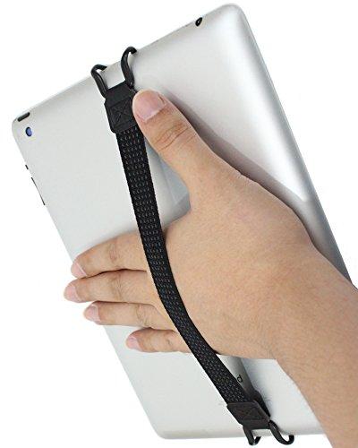 落下防止 伸縮 バンドル グリップ ベルト簡単脱着 挟み込み クリップ バンドル サポーター iPad タブレット...
