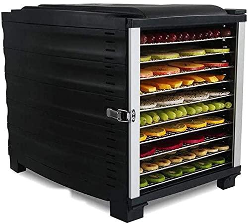 WXking Deshidratador de alimentos 10 bandejas de alimentos de deshidratador con puerta transparente completa, tiempo inteligente controlable de acero inoxidable, secador de alimentos de 800 vatios par