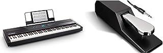 Alesis Recital PRO - Piano Numérique avec Un Clavier de 88 Touches à Mécanique de Marteau & ASP-2 - Pédale de Sustain Univ...