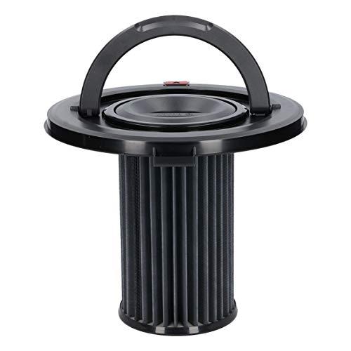 Bosch 12017969 ORIGINAL Filterzylinder Permanentfilterkassette Zylinderhepafilter Staubfilter Flachfaltenfilterkassette Zylinderfilter Lamellenfilter Paneelefilter Griff Bodenstaubsauger Staubsauger