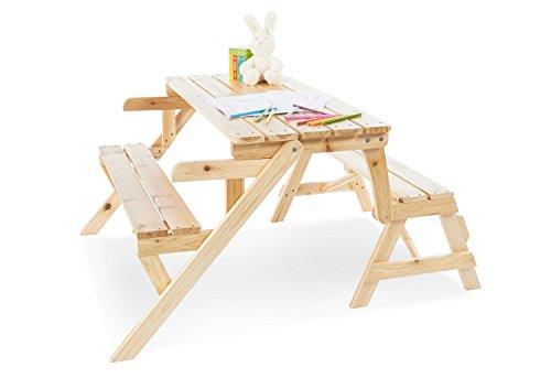Pinolino 201351 2in1 Kindersitzgarnitur und Gartenbank \'Elli\', braun