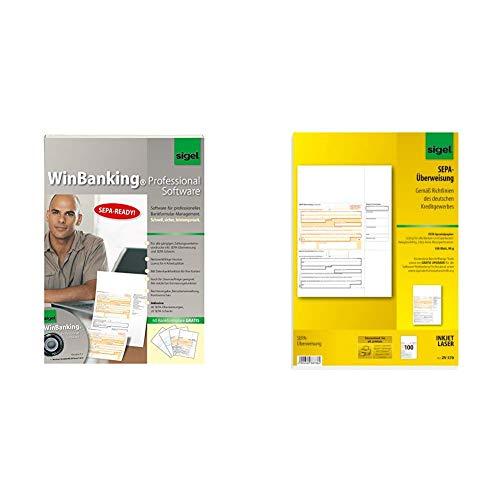 SIGEL SW235 WinBanking Professional, Software für Bankformular-Management, inkl. 60 Bankformulare - auch für SEPA & ZV570 SEPA-Überweisungen, A4, 100 Blatt, incl. free download Beschriftungsassistent