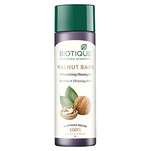 Biotique Bio Walnut Bark Volumizing Shampoo for Fine & Thinning Hair, 190 ml
