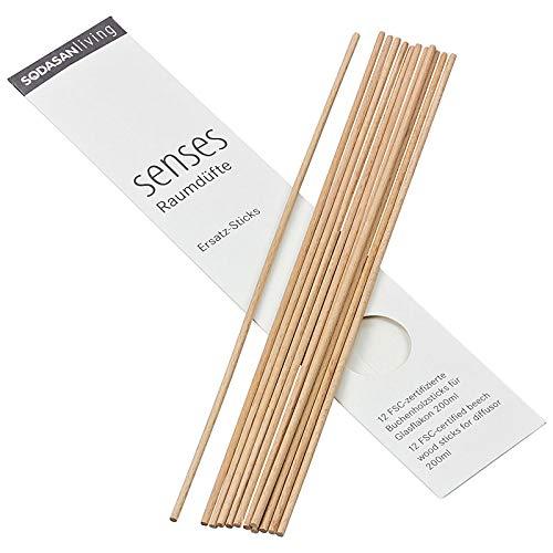 Sodasan - Bio Raumduft senses Ersatzsticks - 1 x 12 Stück