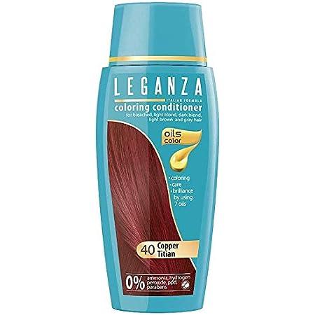 Leganza, 7 aceites naturales, bálsamo para el pelo de color ...