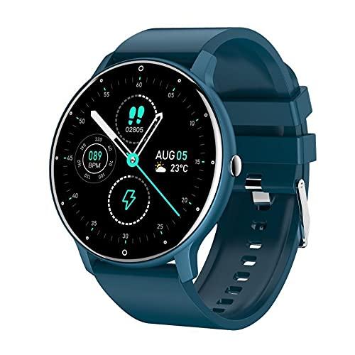 Reloj inteligente 2021, rastreador de fitness, con monitor de presión arterial de ritmo cardíaco, seguimiento de sueño, monitor de actividad IP68