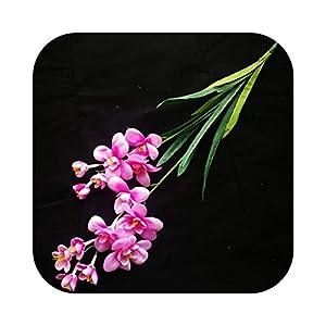 Silk Flower Arrangements #N/D One Artificial Freesia Flower Fake Butterfly Orchid 14 Heads Silk CattleyaCymbidium Orchid Flowers-Pink