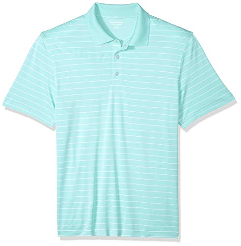 Amazon Essentials Herren-Golf-Poloshirt, reguläre Passform, schnelltrocknend, aqua, US L (EU L)