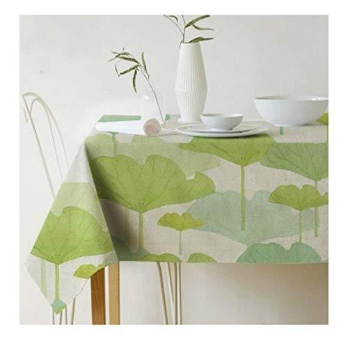 ggzgyz Jardín Mantel Rectangular de Hoja de Palma Impresión Mantel Impermeable Mantel de Lino Poliéster Cocina Mesa de Comedor Cubierta Decoración nórdica Mantel
