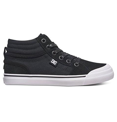 DC DC Boys' Youth Evan Hi Skate Shoes, Black/White, 3 M US Little Kid