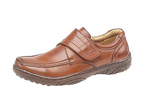 Smart Un Hommes Loisirs/Souple Marche Chaussure - Brun Clair, 12 UK