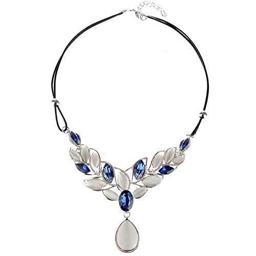 Oasis Land Jewelry - Colgante con colgante de ópalo,