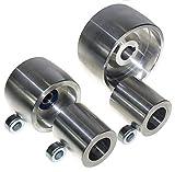 (AL4-19) Set di rotelle per smerigliatrice a nastro CNC, per lama da 100 mm, albero da 19 mm, binario da 75 mm, puleggia folle da 50 mm