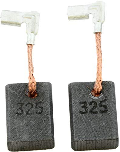 Escobillas de carbón Buildalot Specialty ca-03-74474 para Makita Amoladora recta GD0601-5x11x15,5 mm - Con resorte, cable y conector - Reemplaza partes 194074-2 & CB-325