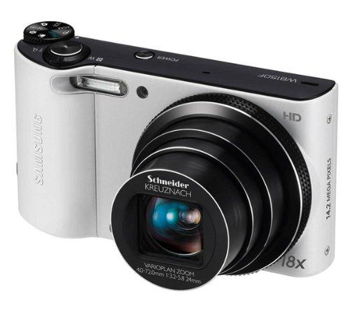 Samsung WB150F Smart-Digitalkamera (14 Megapixel, 18-fach opt. Zoom, 7,6 cm (3 Zoll) Display, bildstabilisiert, Wifi) weiß