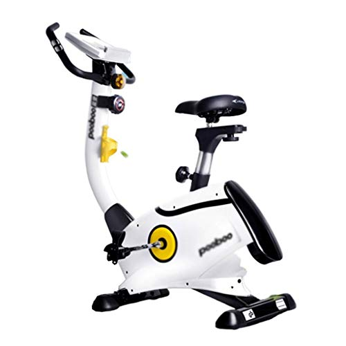 Fitnessbikes Heimtrainer Cross-Trainer Heim-Heimtrainer 8-Gang-Magnetkraftwiderstand Krafteinstellung, Tragend Ca. 120 Kg (Color : Weiß, Size : 128 * 55 * 146cm)
