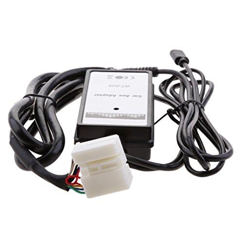 Homyl Adaptador de Coche USB Coche USB Aux In MP3 Player Cable de Radio Auxiliar 3,5mm para Honda Accord Civic Fit