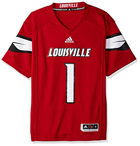 NCAA Louisville Cardinals Adult Men Premier Football Jersey, Medium, Black